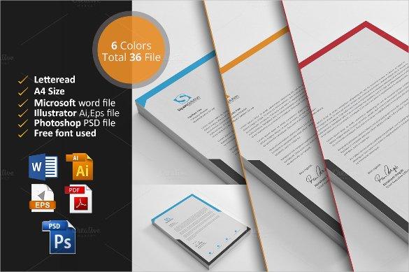 Design Letterhead Template in Word