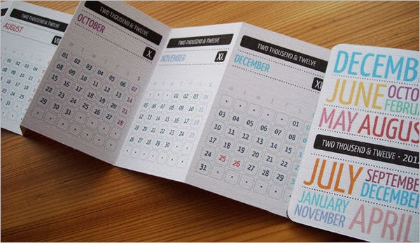 design pocket calendar template