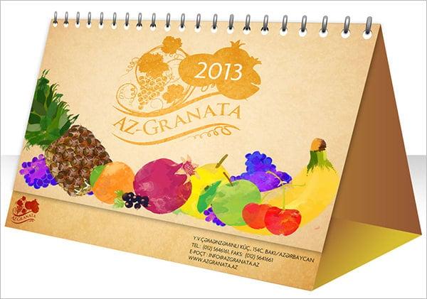desk calendar design for azgranata template