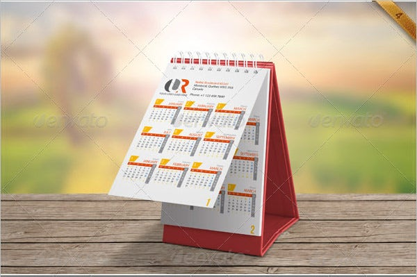 desk calendar mockup set template