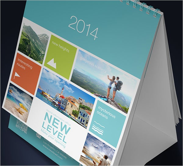 desk calendar template mock up