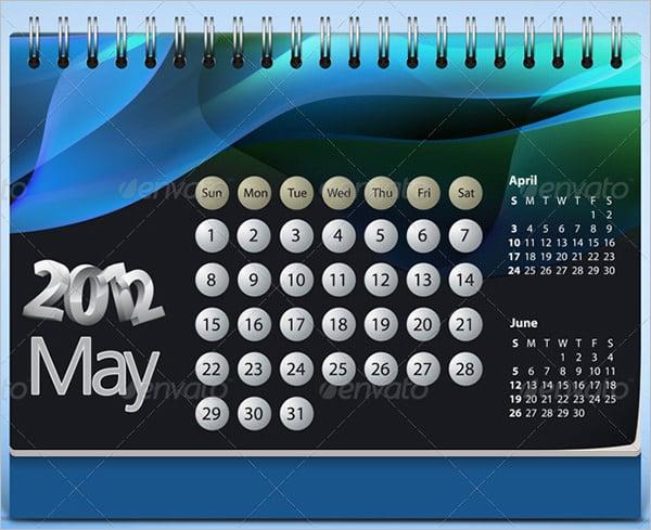desk calendar template mock up 2