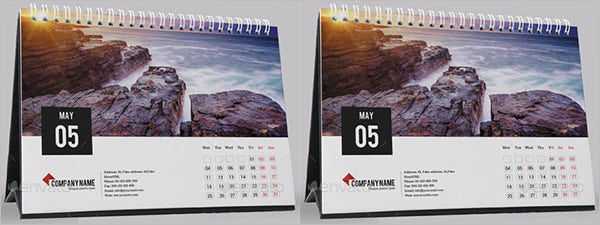 desk calendar template for 2015