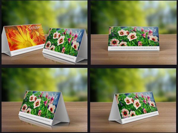 desk calendars mockup pack template