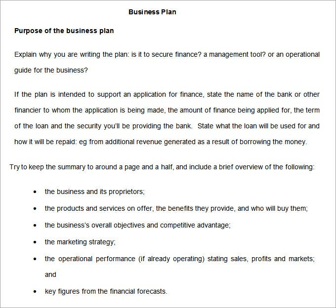 Business Development Plan  Free Word Documents Download  Free