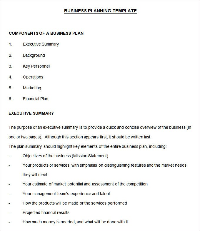 development plan template