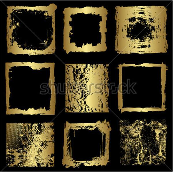 different gold frame brush