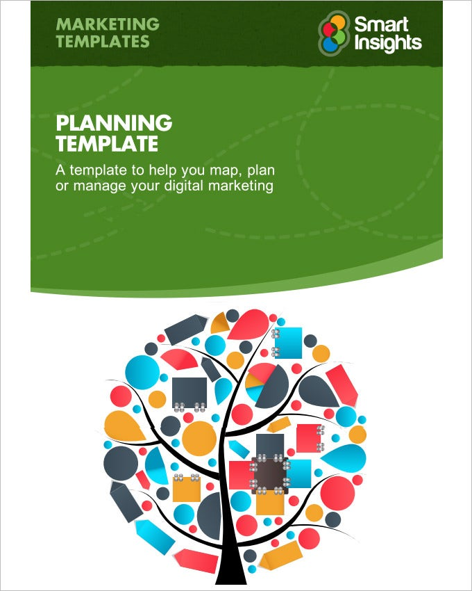 Digital marketing plan template 7 free word pdf for Planning on line