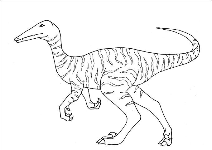 dinosaur color page