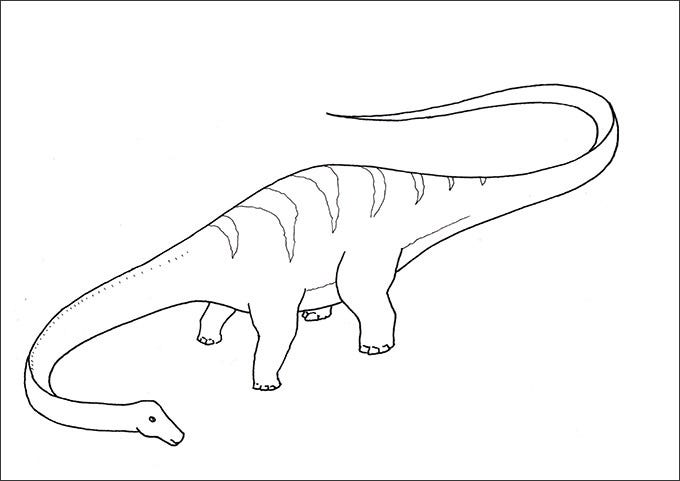 dinosaur coloring page for preschoolers
