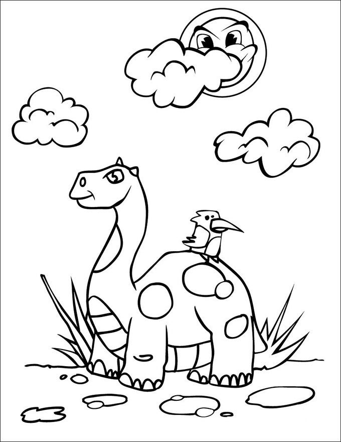dinosaur coloring pictuer