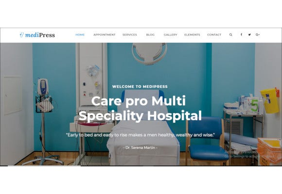 doctor responsive medical wordpress theme