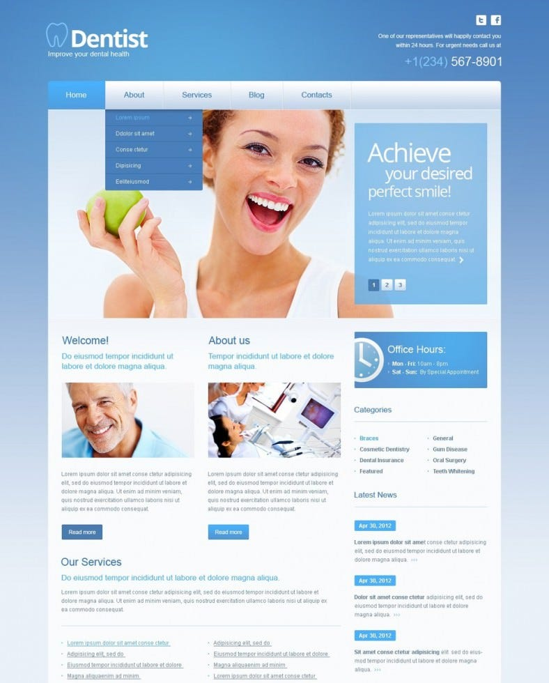 download dentistry wordpress template 41 788x980