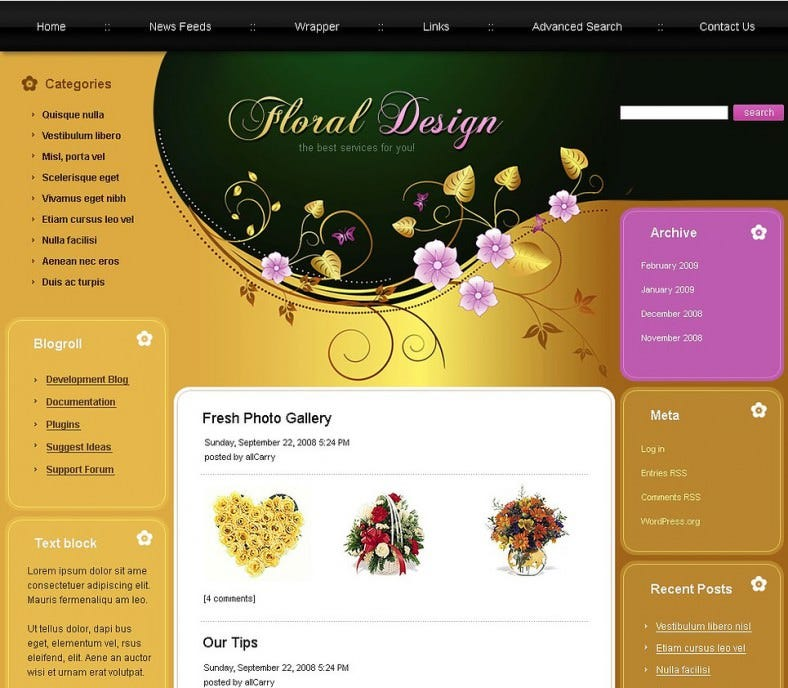 download florist joomla template 58 788x688
