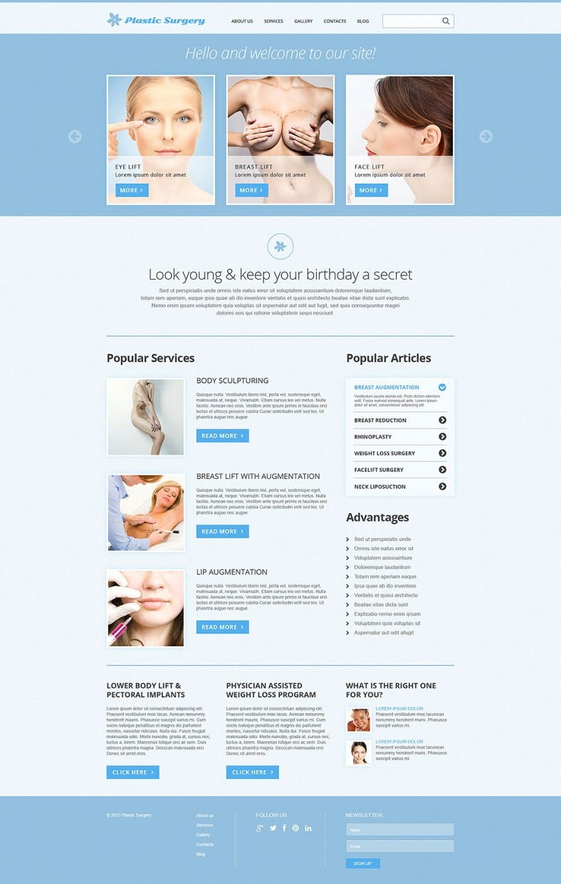 download plastic surgery joomla template 75 788x1242