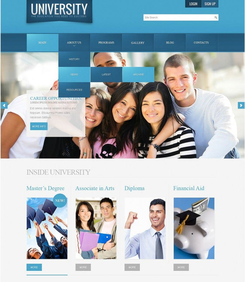 download university joomla template 67 788x908