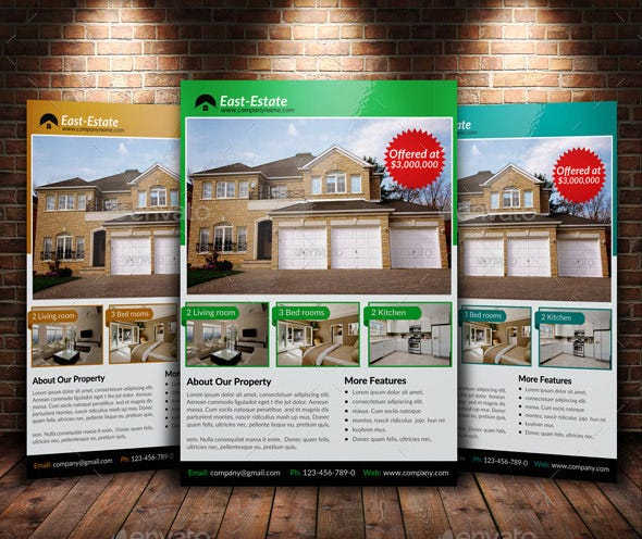 east estate open house flyer template
