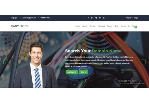 easyhost domain hosting template