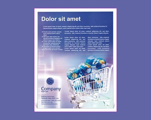 ecommerce word flyer template