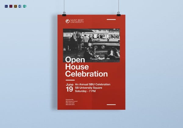 editable academic celebration poster template
