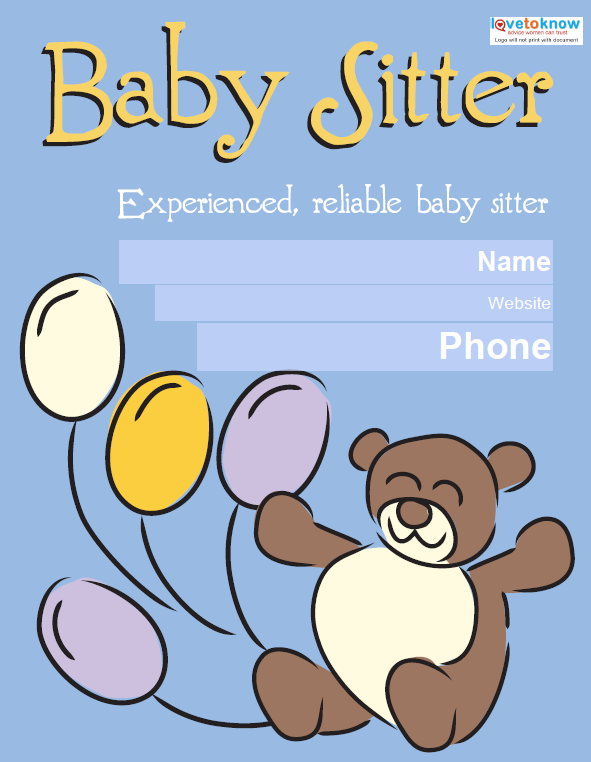 psd baby sitting flyer templates babysitting flyer template