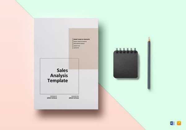 editable sales analysis template