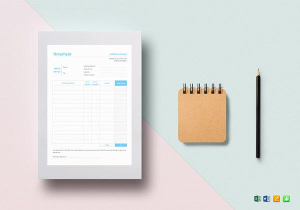 editable timesheet template