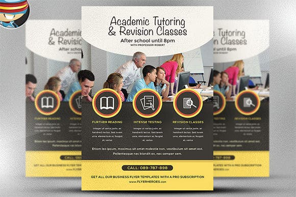 education academic poster design