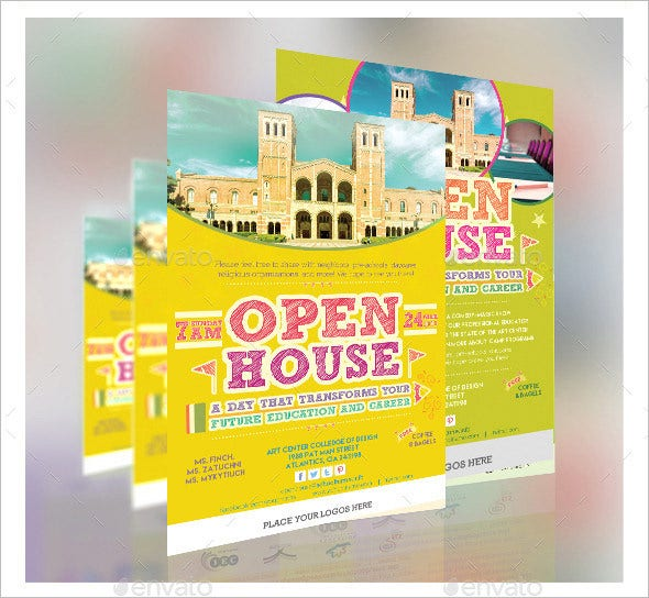 education open house flyer template
