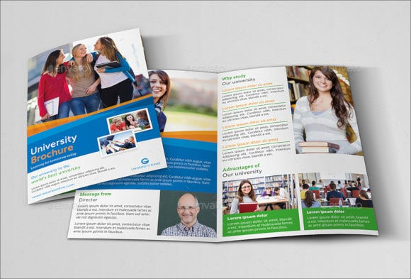 educational brochure template indesign