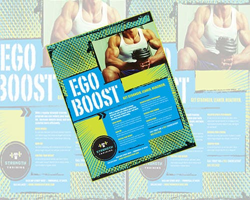 ego boost word flyer template