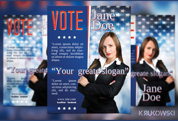 Political Campaign Free Psd Flyer Template Free Download #12006