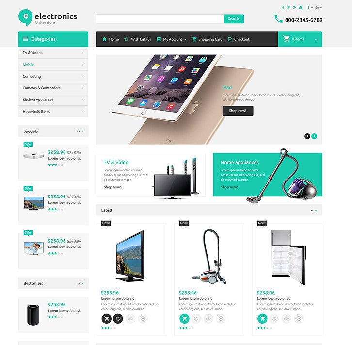Electronics OpenCart Website Templates & Themes | Free & Premium ...