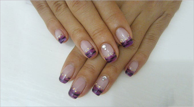 elegant gel nail design