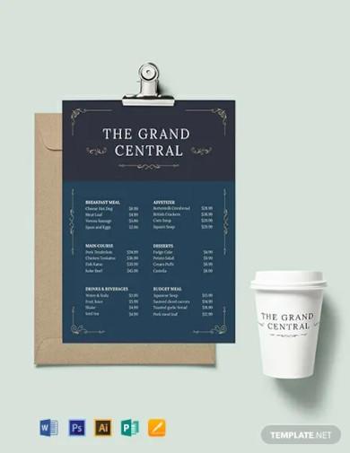 elegant menu board template1