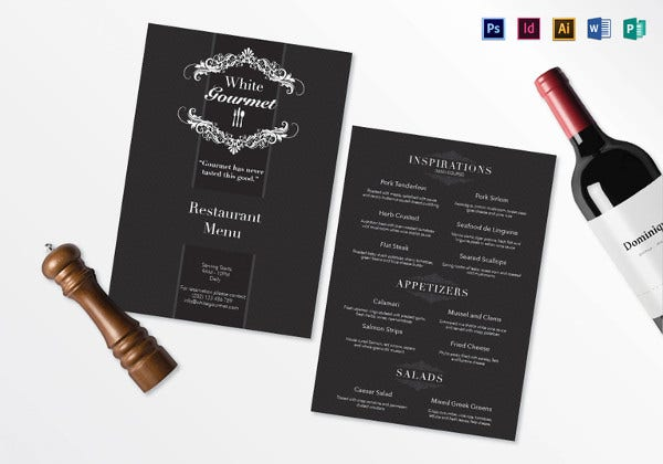elegant-menu-template