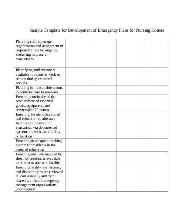 7  home evacuation plan templates