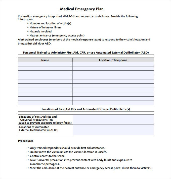 Emergency action plan template 15 free word excel pdf for Emergency response plan template for small business