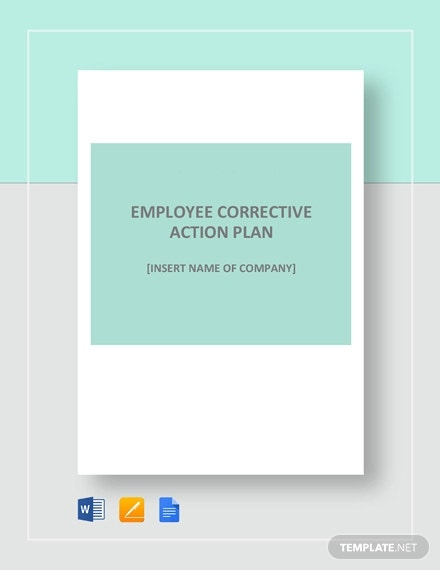 employee corrective action plan template