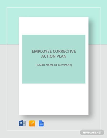 Employee Corrective Action Plan Template
