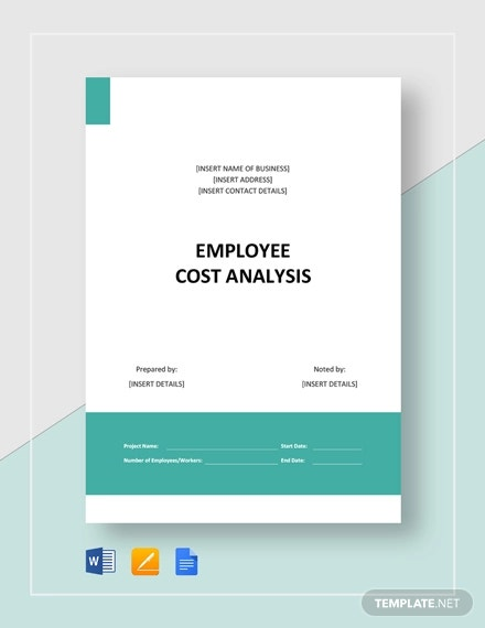 employee cost analysis template