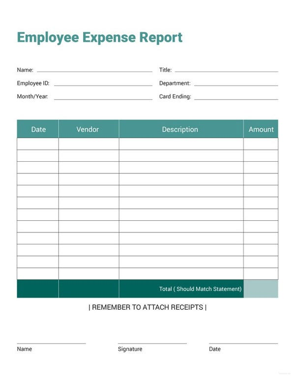 27+ Expense Report Template - Free Word, Excel, PDF Documents ...