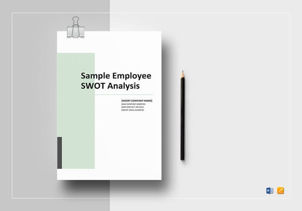 Employee SWOT Analysis Word Template  Job Analysis Template Word