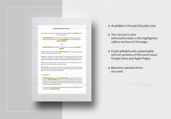 employment contract template