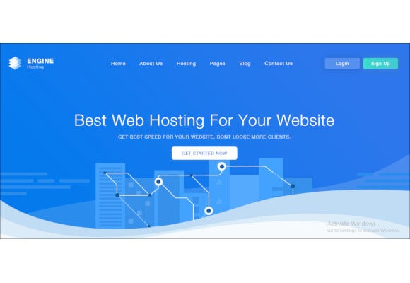 engine hosting html template