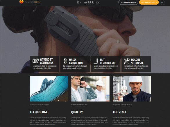 engineering company for website template