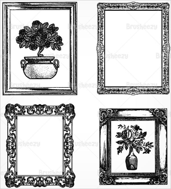 etched antique picture frame brushes pack