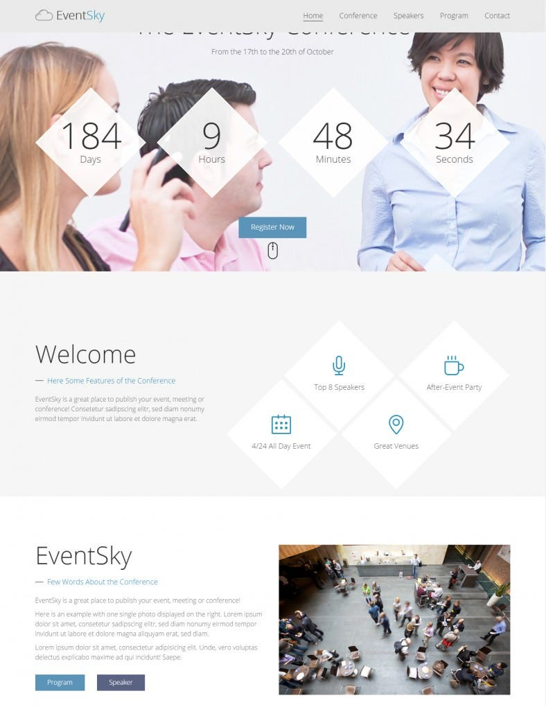 event planner html gallery theme 788x1021