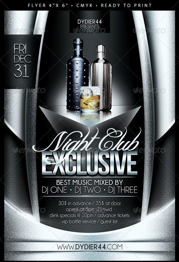 Exclusive Night Club Flyer Template