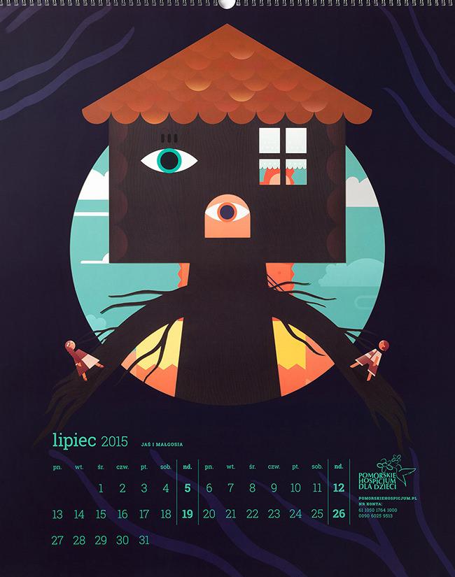 fairytales wall calendar